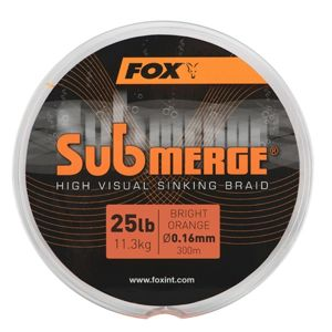 Fox splétaná šňůra submerge high visual sinking braid - 600 m - 0,16 mm 11,3 kg