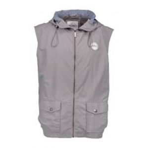 Aqua Vesta High Neck Grey Gilet Hooded-Velikost S