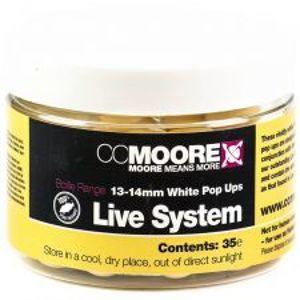 CC More Plovoucí Boilie Live System Bílé 13-14 mm 35 ks