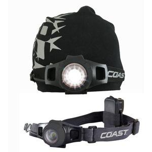 Coast čelovka hl7 sada černé svítilny a čepice