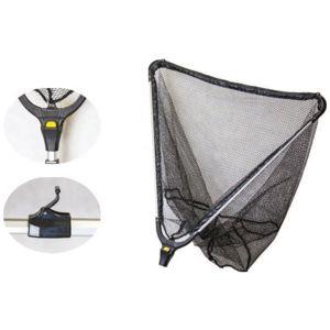Mistrall podběrák s gumovou síťkou 2 díly-délka 2,2 m / rozměr 70x70 cm