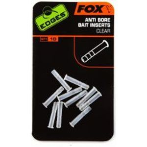 Fox Edges Anti Bore Bait Inserts Clear 10 ks