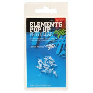 Giants fishing držák nástrahy elements pop-up čirý 10 ks