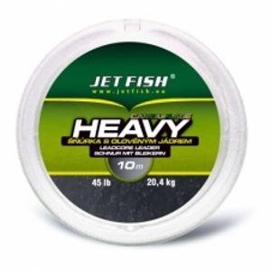 Jet Fish  návazcová šňůra Heavy camouflage 10 m 45 lb-Barva BROWN CAMO