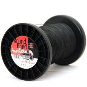 Hell Cat Splétaná Šňůra Round Braid Power Black 1000 m-Průměr 0,60 mm / Nosnost 75 kg