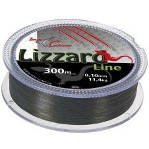 Iron Claw Splétaná Šňůra Lizzard 300 m Šedá-Průměr 0,10 mm / Nosnost 11,4 kg