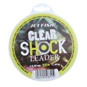 Jet Fish Clear Shock Leader Crystal 100 m-Průměr 0,50 mm / Nosnost 11,4 kg