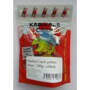 Kamikaze Carp Pelety Halibut Catch Pellets 8 mm 100 g-Česnek
