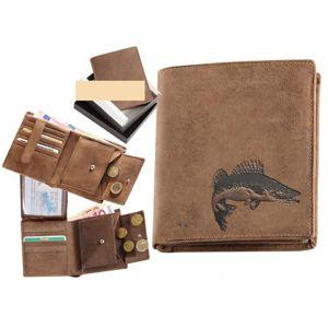 Kožená rybářská peněženka 17 - candát