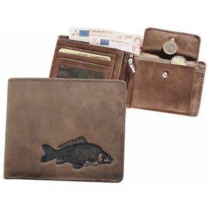 Kožená rybářská peněženka 40 - kapr