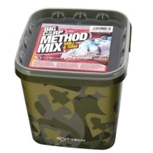 Bait-Tech krmítková směs camo bucket big carp method mix krill & tuna 3 kg