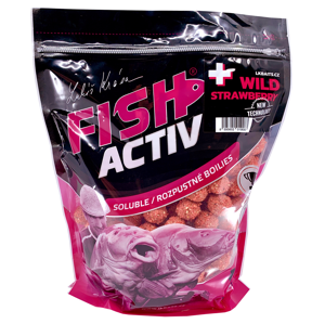 Lk baits boilie fish activ plus wild strawberry - 1 kg