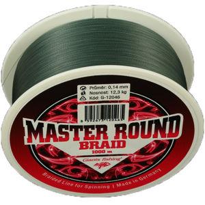 Giants fishing šňůra master round braid 1000 m tmavě zelená-průměr 0,12 mm / nosnost 9,8 kg