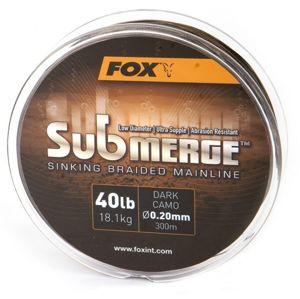 Fox splétaná šňůra submerge sinking braided mainline camo 300 m-průměr 0,16 mm / nosnost 11,3 kg