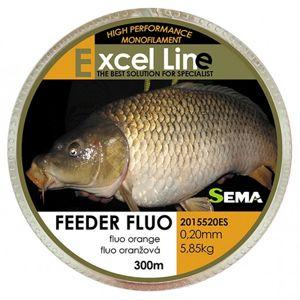 Sema vlasec feeder fluo oranžová 300 m-průměr 0,18 mm / nosnost 4,9 kg