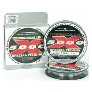 Colmic vlasec x5000 special fishing 150 m čirá-průměr 0,22 mm / nosnost 7,5 kg