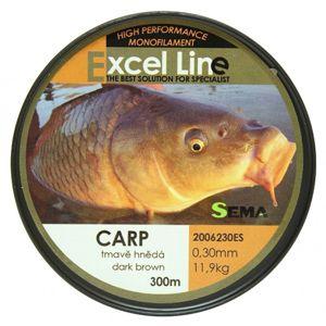 Sema vlasec carp camo hnědá 1200 m-průměr 0,30 mm / nosnost 11,9 kg