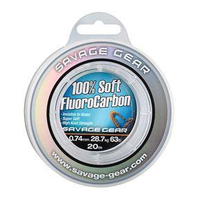 Savage gear florocarbon soft fluoro carbon 50 m-průměr 0,33 mm / nosnost 7 kg