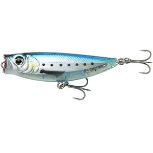 Savage gear wobler 3d minnow pop walker ghost sardine - 5,5 cm 6 g