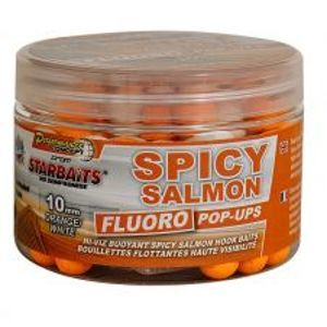 Starbaits Boilie Fluo plovoucí Spicy Salmon 80 g-14 mm