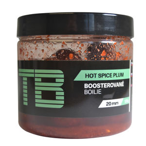 Tb baits boosterované boilie hot spice plum 120 g - 20 mm